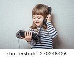 Little Girl Calling Phone
