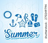 summer vacations design  vector ... | Shutterstock .eps vector #270249794