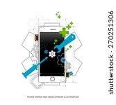 mobile repair and development... | Shutterstock .eps vector #270251306