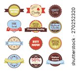 vector vintage badges  stickers ... | Shutterstock .eps vector #270252320