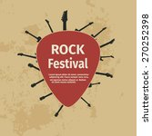 rock festival banner with... | Shutterstock .eps vector #270252398