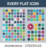 big set of flat icons. trendy...