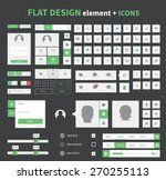 flat ui kit pack design with... | Shutterstock .eps vector #270255113