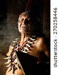 shaman in ecuadorian amazonia...   Shutterstock . vector #270258446