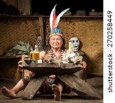 shaman in ecuadorian amazonia... | Shutterstock . vector #270258449