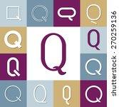 vector illustration letter q set   Shutterstock .eps vector #270259136