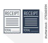 receipt icon. vector... | Shutterstock .eps vector #270260354