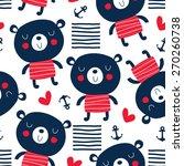 Seamless Sailor Teddy Bear...