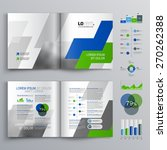 white brochure template design... | Shutterstock .eps vector #270262388