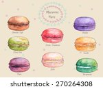 set of watercolor different... | Shutterstock .eps vector #270264308