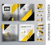 classic gray brochure template... | Shutterstock .eps vector #270264314