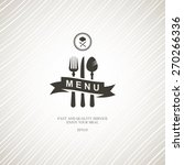 restaurant menu with cutlery. | Shutterstock .eps vector #270266336