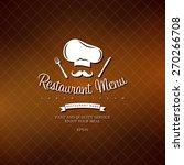 retro menu for the restaurant... | Shutterstock .eps vector #270266708