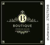 luxury logo template elegant... | Shutterstock .eps vector #270275348