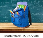 school  backpack  back. | Shutterstock . vector #270277988