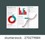 modern vector three fold... | Shutterstock .eps vector #270279884