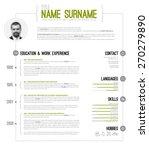 vector minimalist cv   resume... | Shutterstock .eps vector #270279890