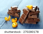 Pieces Of Chocolate With Orang...