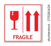 fragile sign vector | Shutterstock .eps vector #270281624