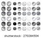 grey round internet button set | Shutterstock . vector #270284504