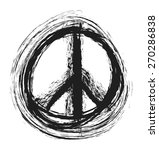 doodle grunge peace sign ... | Shutterstock .eps vector #270286838