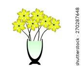 yellow flowers | Shutterstock .eps vector #270287648