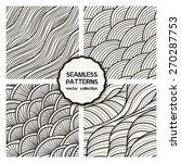vector set of four seamless... | Shutterstock .eps vector #270287753