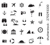 travel and vacation icons set ... | Shutterstock .eps vector #270293330