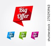 big offer labels | Shutterstock .eps vector #270293963