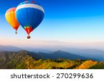 colorful hot air balloons...   Shutterstock . vector #270299636