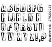 alphabet isolated on white... | Shutterstock . vector #270301238