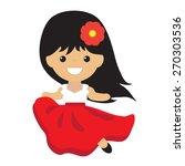Spanish Girl Vector Illustration
