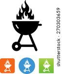 flaming grill icon   Shutterstock .eps vector #270303659