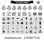 set of packaging symbols  this