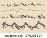 contours of the mountains... | Shutterstock .eps vector #270308924