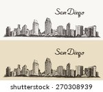 San Diego Skyline  Big City...