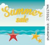 summer sale design  vector... | Shutterstock .eps vector #270311744