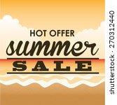 summer sale design  vector... | Shutterstock .eps vector #270312440