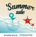 summer sale design  vector... | Shutterstock .eps vector #270314750