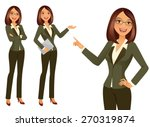 business girl | Shutterstock .eps vector #270319874