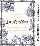 vintage flowers. romantic... | Shutterstock .eps vector #270321230