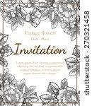 vintage flowers. romantic... | Shutterstock .eps vector #270321458