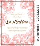 vintage flowers. romantic... | Shutterstock .eps vector #270322388
