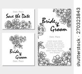 vintage flowers. wedding... | Shutterstock .eps vector #270323843