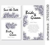 vintage flowers. wedding... | Shutterstock .eps vector #270325130