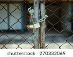 Master Key And Chain With Rust...