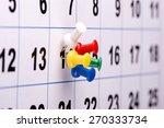 pushpins on calendar plan you...   Shutterstock . vector #270333734