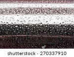 water droplets on metal   a... | Shutterstock . vector #270337910