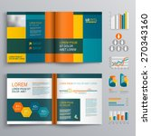 business brochure template... | Shutterstock .eps vector #270343160