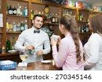 two girls flirting with... | Shutterstock . vector #270345146